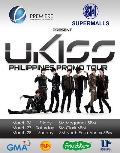 UKISS Manila mall tour poster