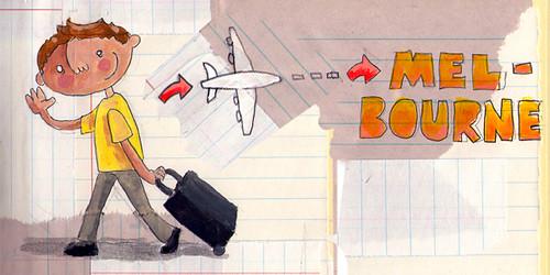 Peter fliegt nach Melbourne