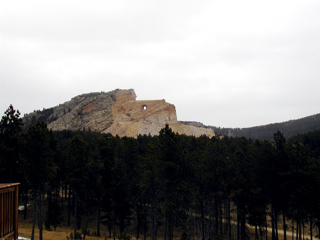 Crazy Horse on a cold day