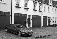 Aston Martin DBS in London (Martijn Kapper) Tags: bw white black london car martin harrods exotic supercar aston spotting astonmartin dbs autogespot