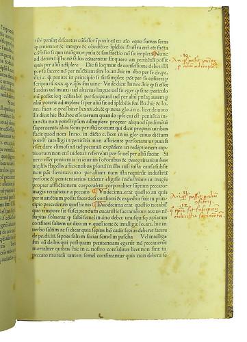 Page of text (with headings) from Zochis, Jacobus de: Canon, omnis utriusque sexus disputatum ac repetitum