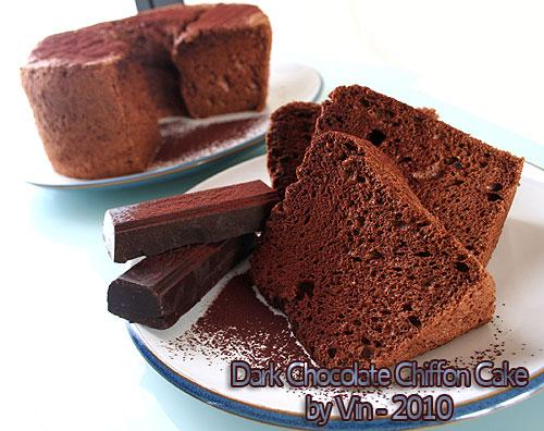 Dark choc chiffon cake