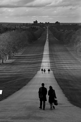 Long walk (kiril vlahov) Tags: uk trees england blackandwhite london clouds mono europe long path walk couples pedestrian windsor castel prespective longwalk oldwindsor mustdo greatparkwindsor peoplewalk ~}{~long