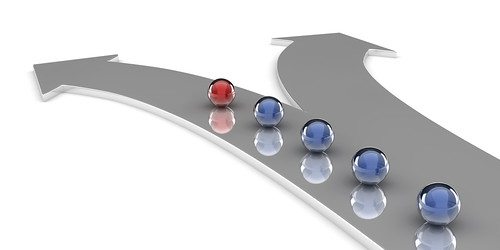 Showing  diverging paths, through your marketing