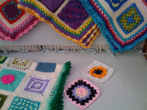 An afternoon with Valeries' Squares. Thank you Valerie!