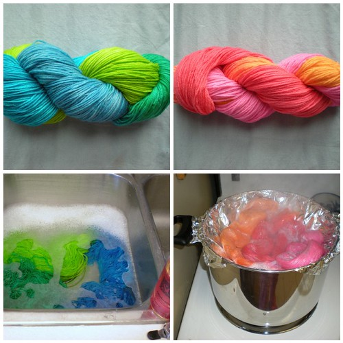Easter Dyeing Yarn