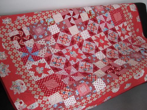 gramas garden quilt, front
