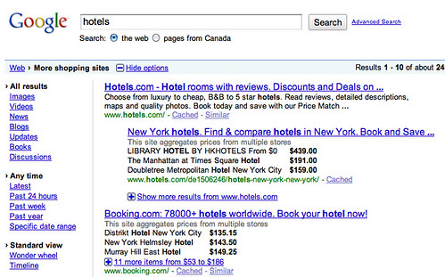 Hotel Prices in Google