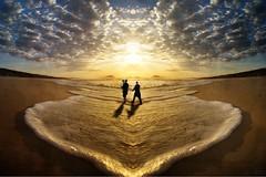 on waves to eternity (Eddi van W.) Tags: light sun texture love creativity energy waves digitalart gimp textures creativecommons meditation spiritual kreativität eddi07