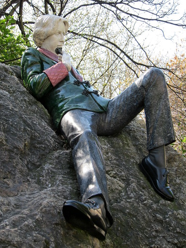 "And I'd just said ""There's gotta be an Oscar Wilde statue around here."""