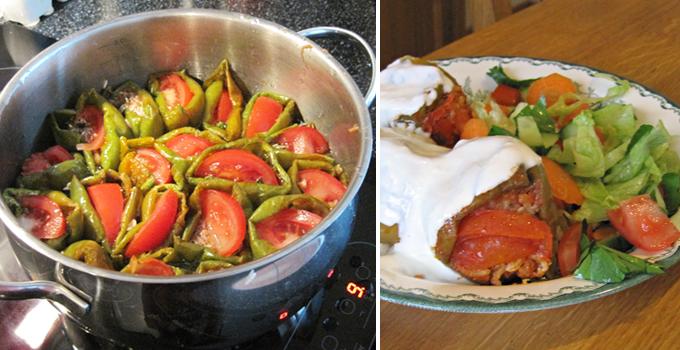 Dolma - torkade paprikor med fyllning