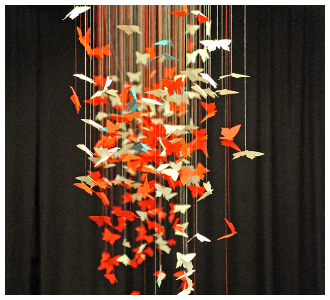 Justyna & Grzegorz – dekoracja – jak powstawały motylki