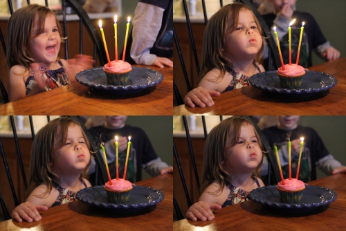 molly blows out her candles in one fell swoop