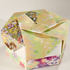 Decorative Hexagonal Origami Gift Box With Lid: # 06