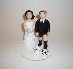 soccer shorts groom (rhodaalynch) Tags: cake clay toppers polymer