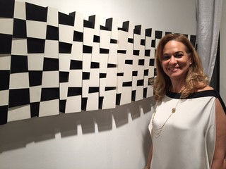 Carolina Caraccia of Art Nouveau gallery at the VIP opening of art Wynwood