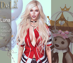 """=DeLa*= new hair """"Luna"""" (=DeLa*=) Tags: dela hair fitted mesh materials secondlife secondlifefashion sl style slhair tres chic new"""