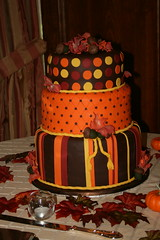 Fall Wedding Cake (irresistibledesserts) Tags: autumn wedding fall leaves cake acorns