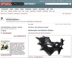SPIEGEL Online: 25 Jahre Das Schwarze Auge