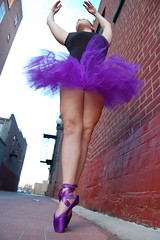 Tutu (Kenny is jumping) Tags: red ballet streets brick wall dance shoes purple tutu
