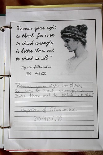 Hypatia quotation copywork