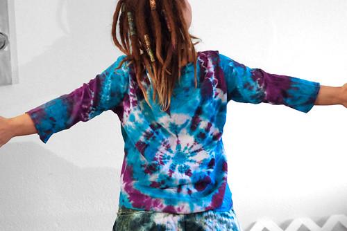turquoise vortex tie-dye