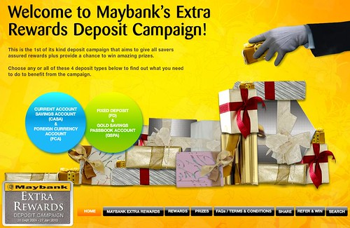 Maybank's Extra Rewards Deposit Campaign