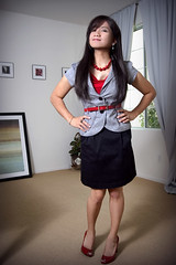 red black and grey (bethantics) Tags: fashion clothing wardrobe whatiworetoday peeptoes todaysoutfit