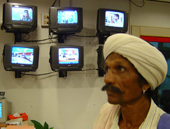 Tribal chief in Indian TV station