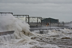 storms1 (md93) Tags: winter sea train clyde waves storms ardrossan saltcoats