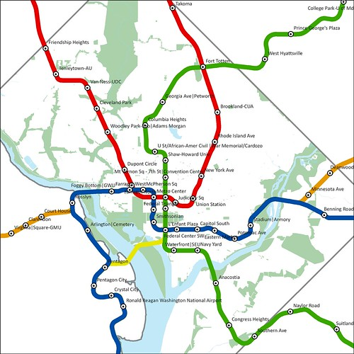 Dc Subway Map With Streets.Dc Mythbusting Metro Map To Scale We Love Dc