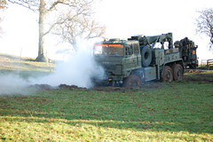Foden cold start (deploy smoke right) (matt bibbey) Tags: camp mountains cold 6x6 night truck army gun shoot exercise accident military hill machine down rover trench cumbria guns shooting bullet bog range a2 machinegun recovery sa80 reme foden bogged warcop gpmg l85 l85a2 manouvre mattbibbey fodenrecovery
