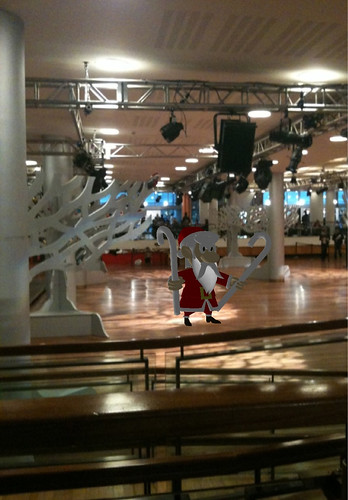 Santa is mad at festival hall