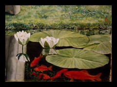 Ashmolean Museum, Oxford (Martin Beek) Tags: red fish hot colour detail macro art up closeup museum garden painting lily close details fineart victorian culture surface nun study oxford technique tutorial masterpiece preraphaelite ashmoleanmuseum paintingdetail historyofart victorianart landscapedetail landscapedetails artgalleriesandmuseums victorianartists artupclose artgalleryandmuseums conventthoughts artexamined