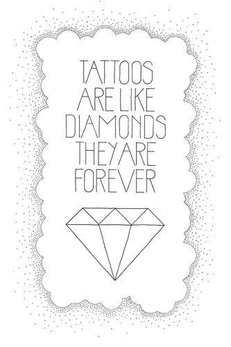 tattoos/diamonds