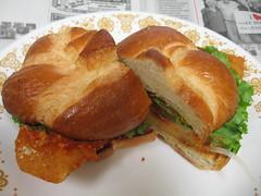 Flounder parmesan sandwich
