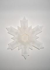Snowflake 2.1 (Front) (Oriholic Jared) Tags: snowflake jaredneedle origamisnowflake