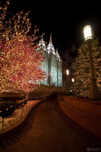 Salt Lake City Temple Square - Christmas 2009