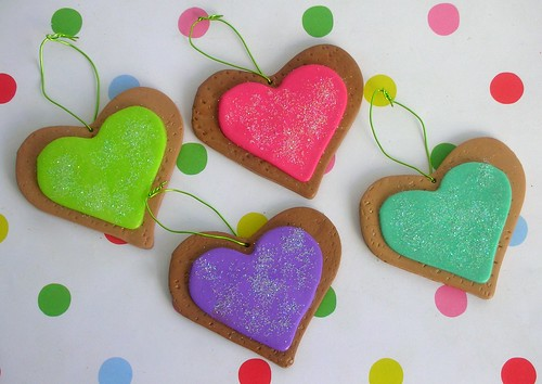 Handmade Christmas cookie decorations