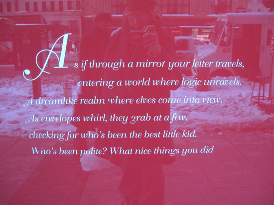 Macy's - Window 2 - Poem (Click to enlarge)