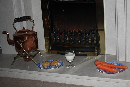 treats by the fireplace