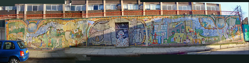 Friendship wall panorama Depford, London