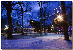 Gage Park Twilight I (Lisa-S) Tags: winter snow ontario canada lights star twilight lisas skating gazebo allrightsreserved brampton 1110 tistheseason gagepark onblue jan10 blueribbonwinner platinumheartaward copyrightlisastokes gappool