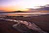 Rangitoto in Shades of Orange and Mauve (Perambulations) Tags: newzealand sunrise dawn auckland northshore rangitotoisland takapunabeach sonyalphadslra200