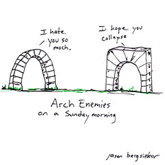 Arch Enemies (The Grapes of Jason) Tags: jason arch drawing doodle grapes enemies bergsieker