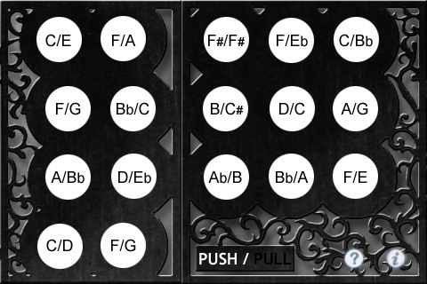 Concertina Bb/F 1.3 Button Layout