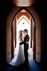 The Beginning (jæms) Tags: wedding portrait church beautiful beauty alissa andrew explore backlit remoteflash