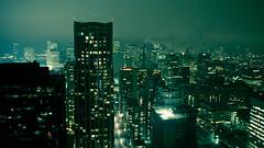 green toronto (tomms) Tags: longexposure toronto green skyline night lights cityscape lightpollution skyscrapper baysteet