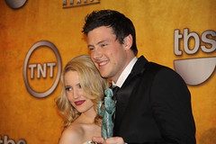 Dianna Agron and Cory Monteith, co-winners of the 2010 SAG award for Outstanding Performance by an Ensemble in a Comedy Series (djtomdog) Tags: actors screen fox guild sag glee tvjunkie corymonteith diannaagron thomasattilalewis outstandingperformancebyanensembleinacomedyseries