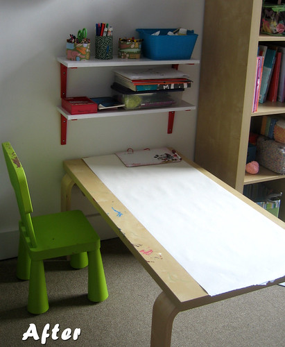 Lara's room - table shelves (after)
